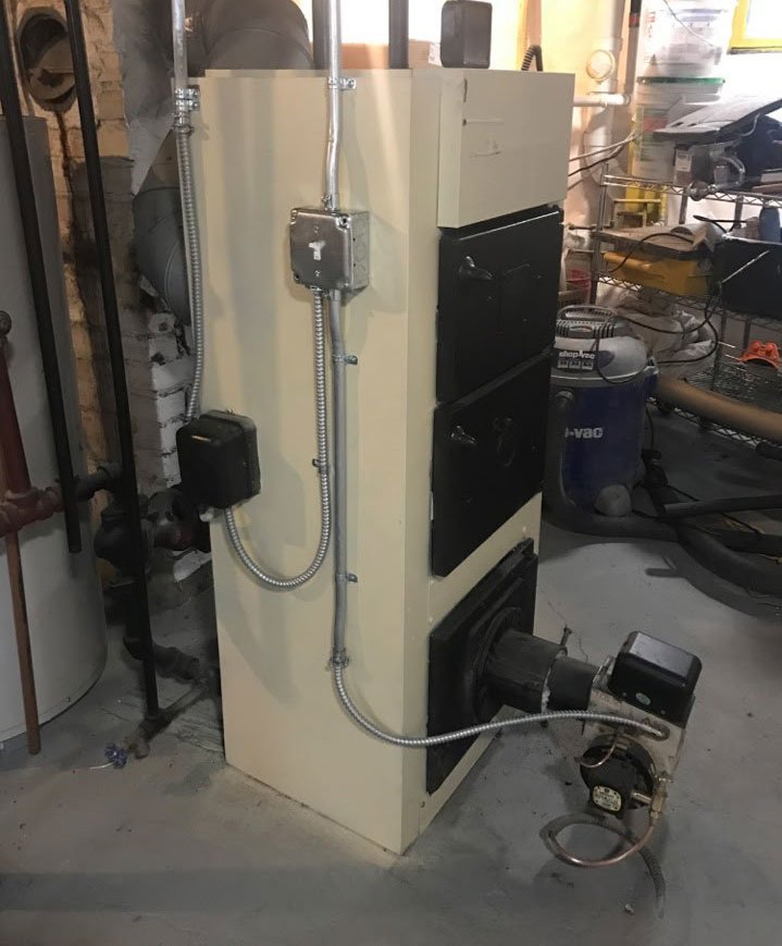 Large Cast Iron Boiler Removal MA