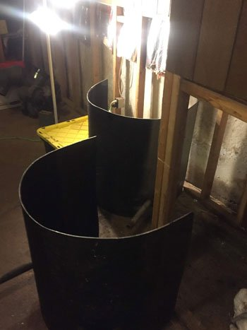 Cut up oil tank for disposal