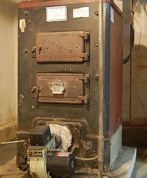 Large Size Cast Iron Boiler Removal MA