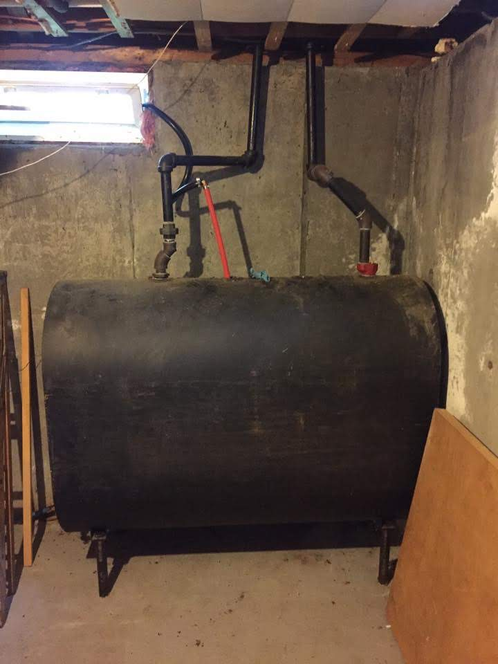 Oil Tank Removal Before