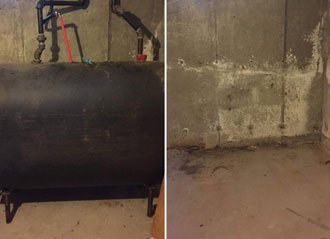 Before and After Oil Tank Removal JPS Oil Tank Removal MA
