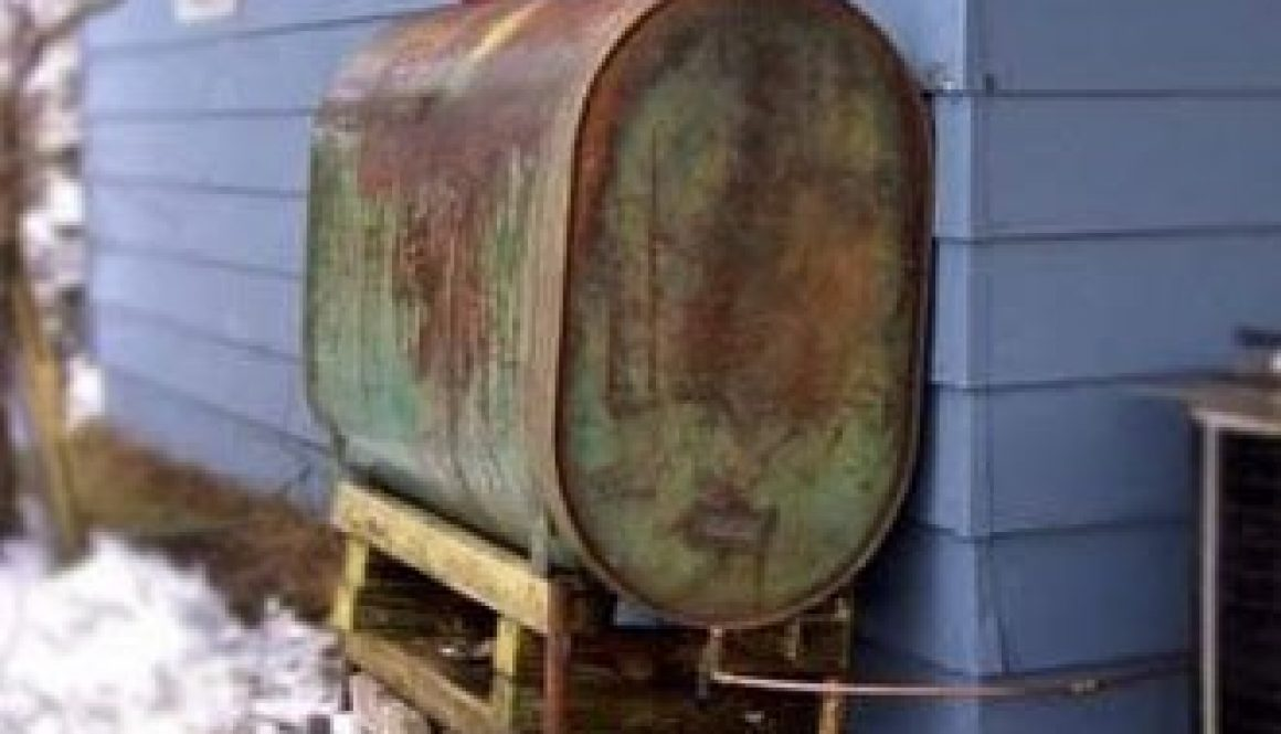 Outside Elevated Oil Tank | Jacobs Property Solutions Oil Tank Removal