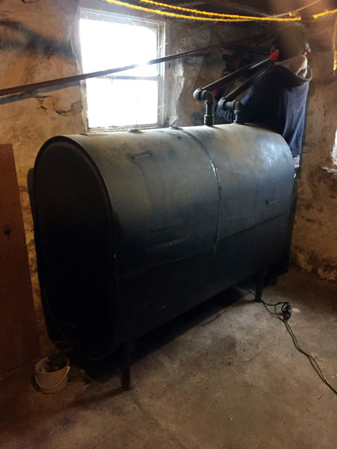 Removing Oil Tank from Basement