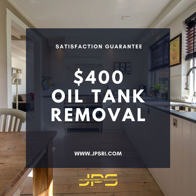 300 Flat Rate Oil Tank Removal MA Jacobs Property Solutions
